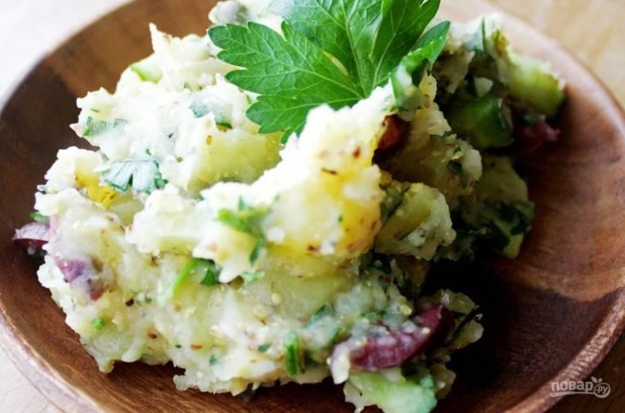 10.Наслаждайтесь вкусным и сытным салатом.