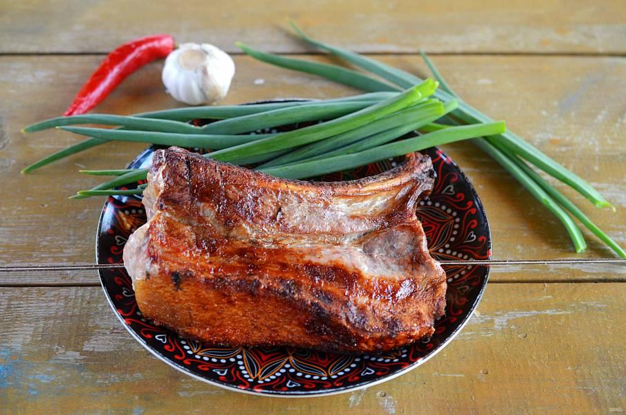 Шашлык на косточке из свинины