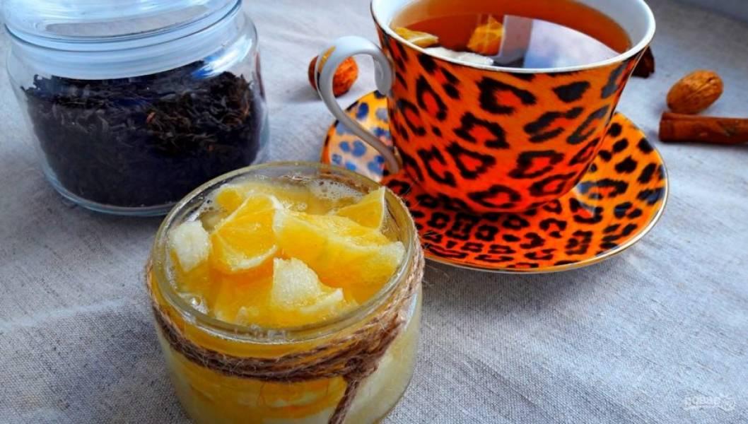 3. После этого выложите лимон в баночки и поставьте в холодильник. Приятного аппетита!