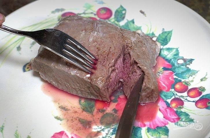 5. Вот такой необычный стейк в молоке получился. Приятного аппетита!