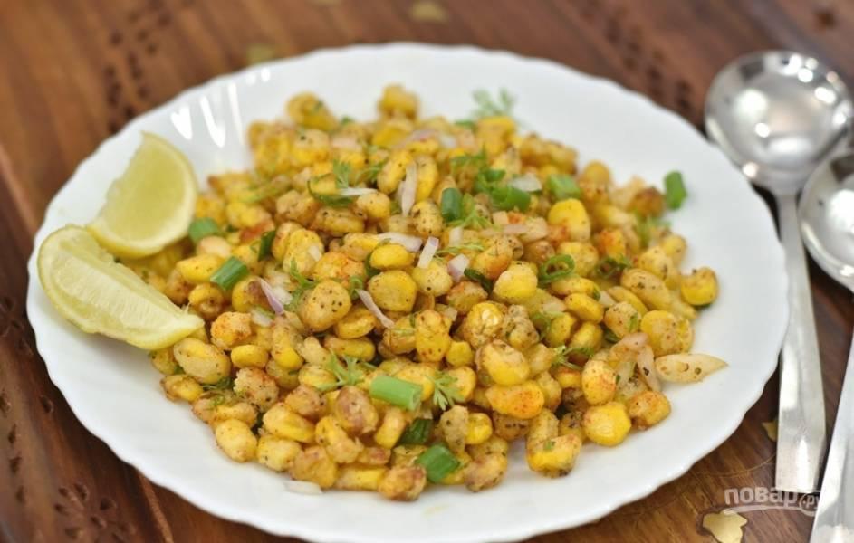 Хрустящая жареная кукуруза