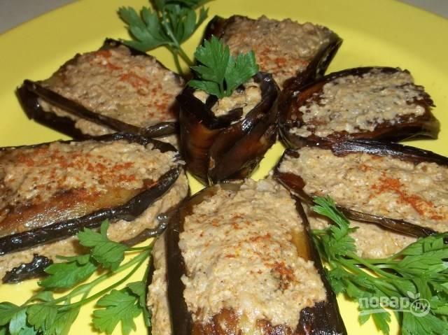 Рецепт баклажанов с орехами