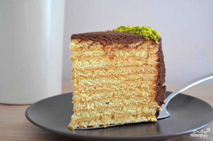 Медовый пирог со сметанным кремом