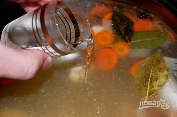 9. В конце влейте рюмку водки при желании.