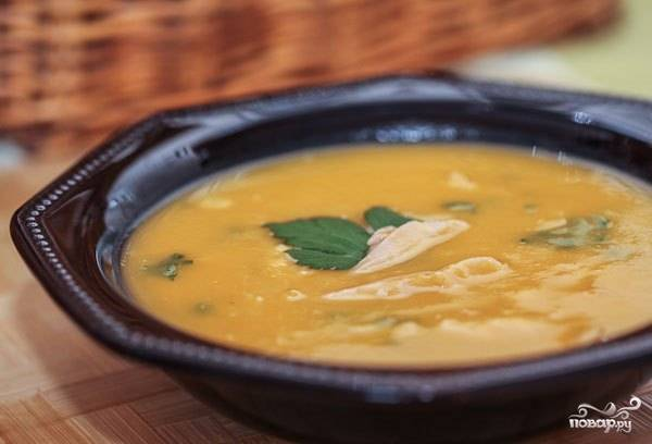 Суп из тыквы с курицей