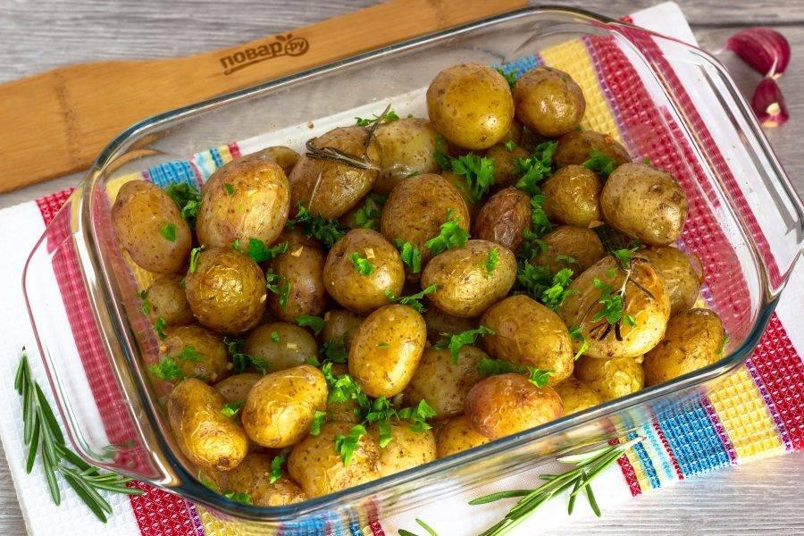 Украсьте блюдо свежей зеленью и подавайте к столу!