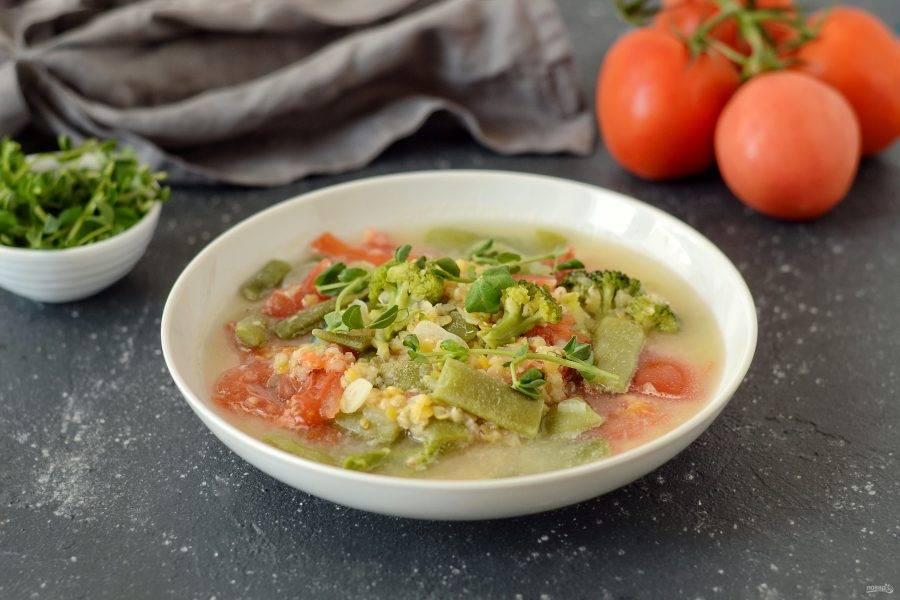 Детокс суп готов, приятного аппетита!