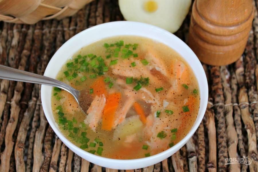 Суп из хребтов семги