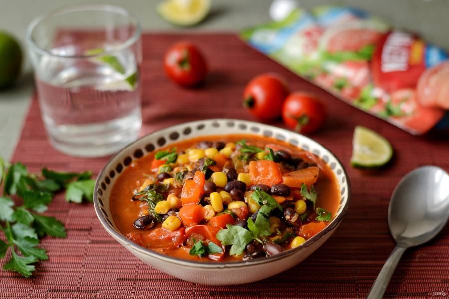 Мексиканский суп с кетчупом