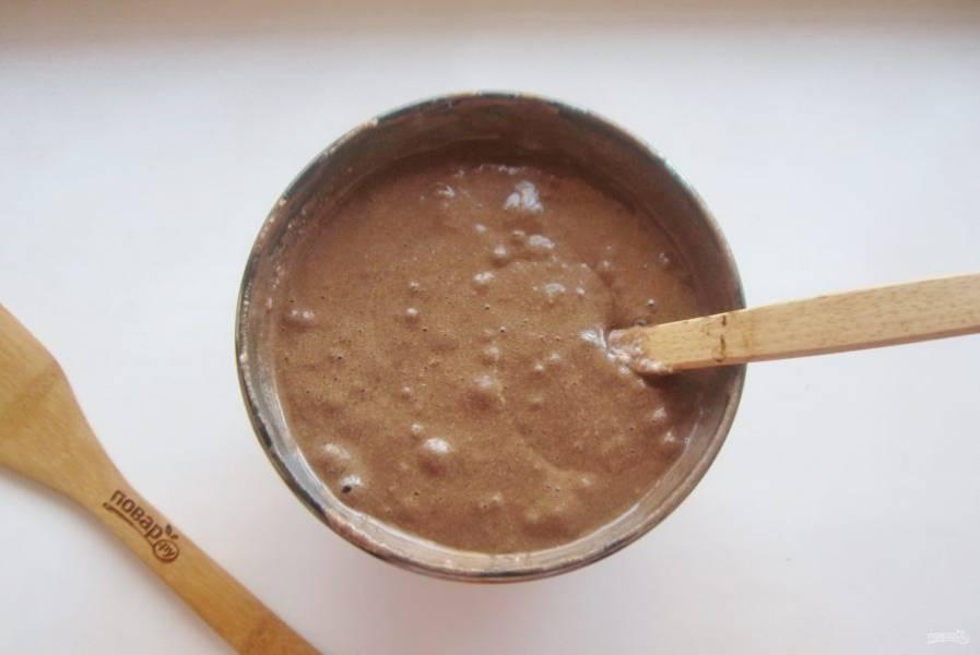 Тесто для шоколадного бисквита готово.