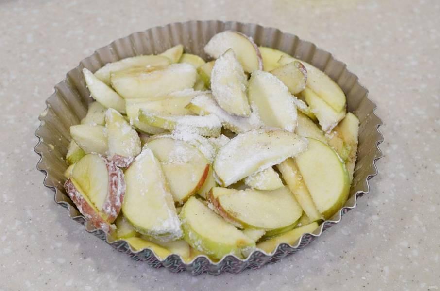 Выложите все яблоки.