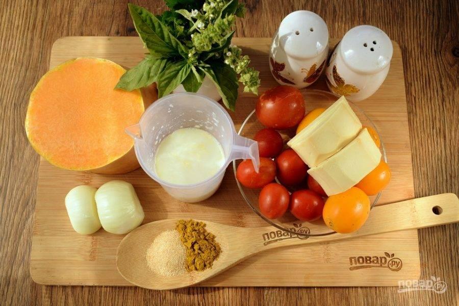 Подготовьте необходимые продукты. Овощи и зелень помойте и очистите.