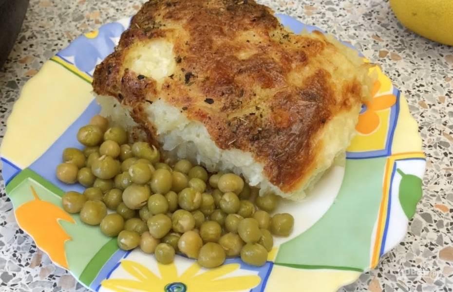 Рыба с картофелем под майонезом