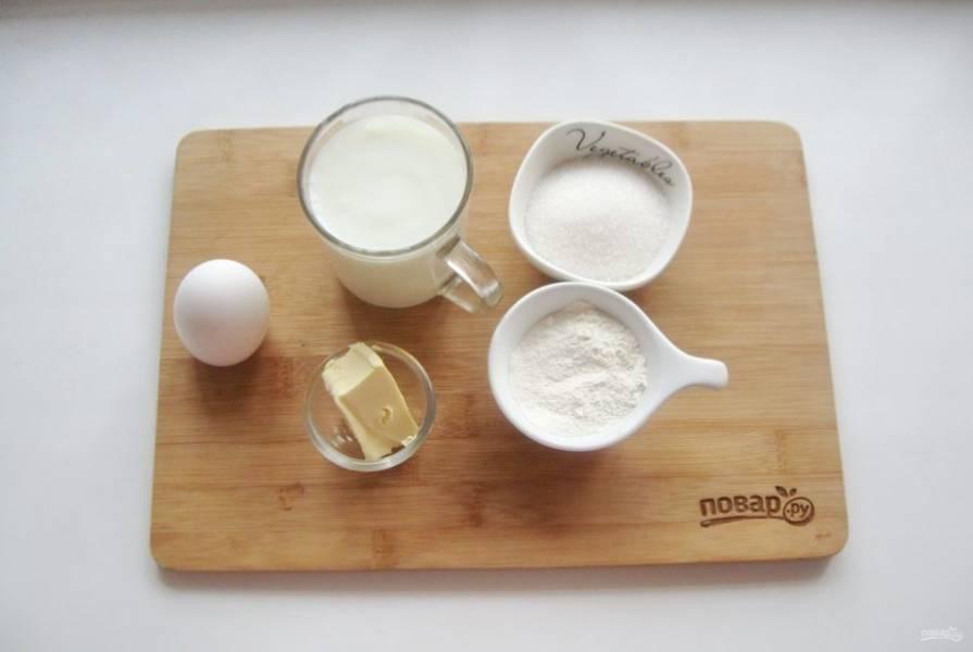 Подготовьте ингредиенты для приготовления вафель.