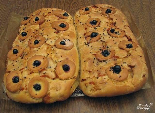 Вкусный пирог с тыквой и яблоком