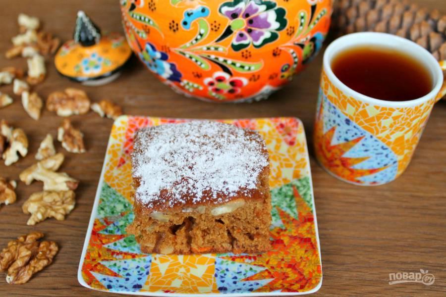 Морковный пирог с медом