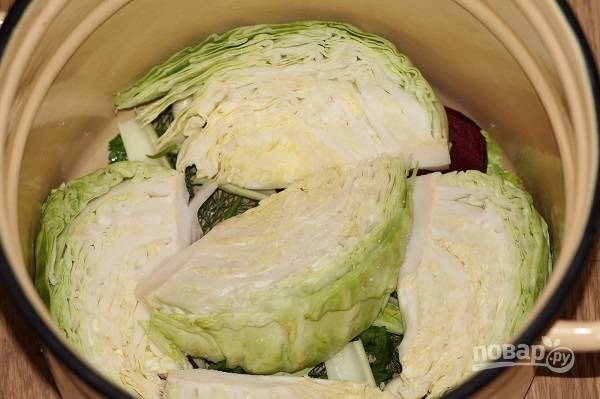 5. Далее — слой капусты.