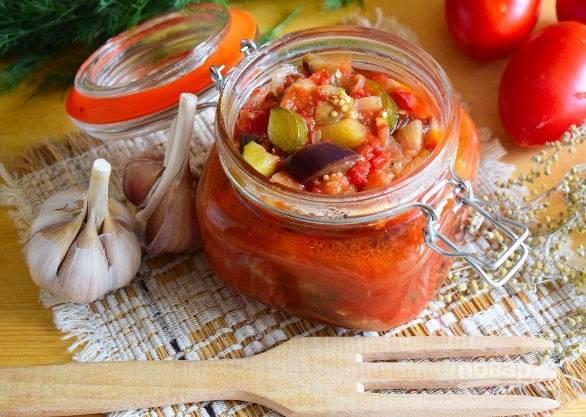Салат на зиму из баклажанов