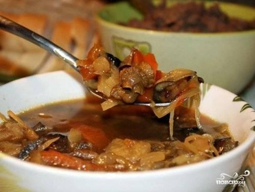 Солянка мясная с капустой