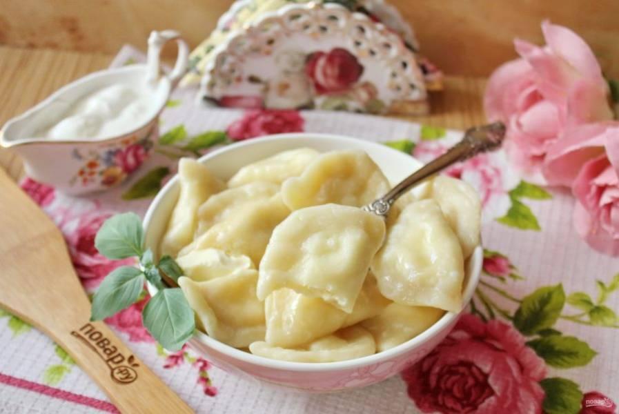 Нежные, очень вкусные вареники подойдут на завтрак, обед или ужин.