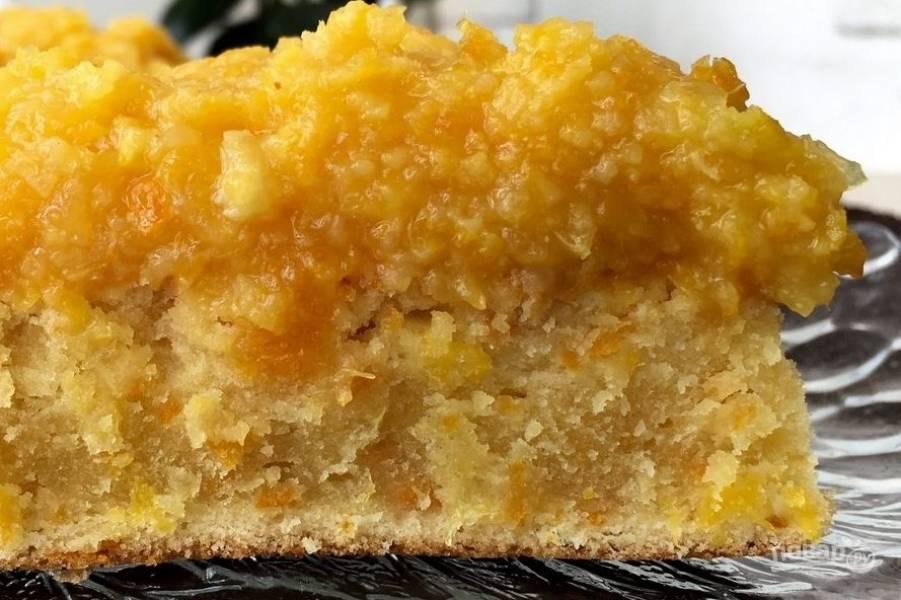 Апельсиновый пирог (нежный масляный бисквит)