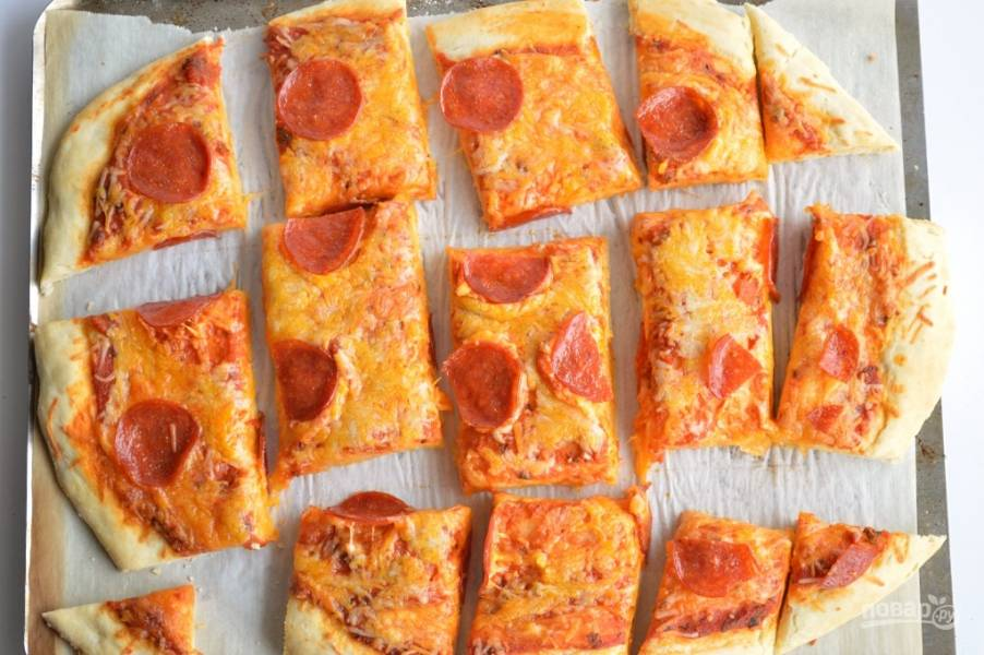 Бездрожжевое тесто на пиццу