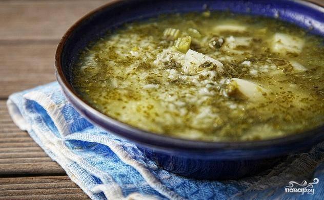 Зеленый суп с щавелем