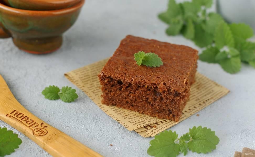 Морковный пирог с какао