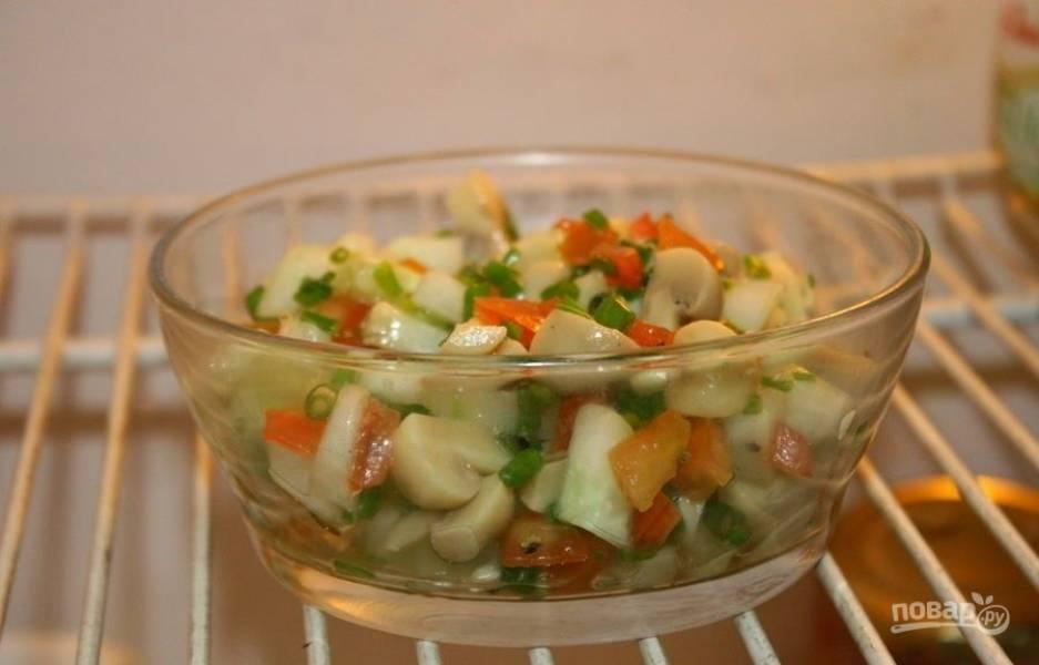 Салат с грибами без майонеза