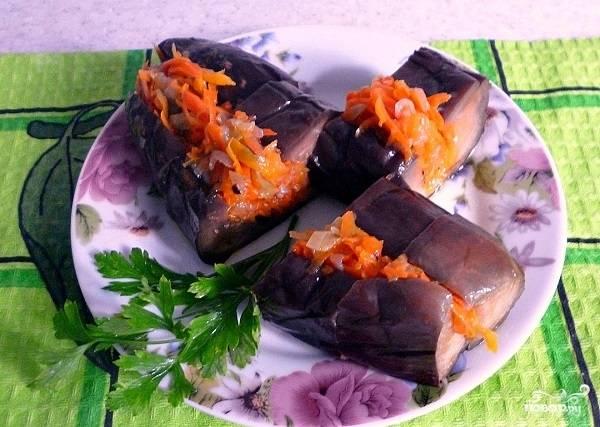 Баклажаны с морковкой фаршированные