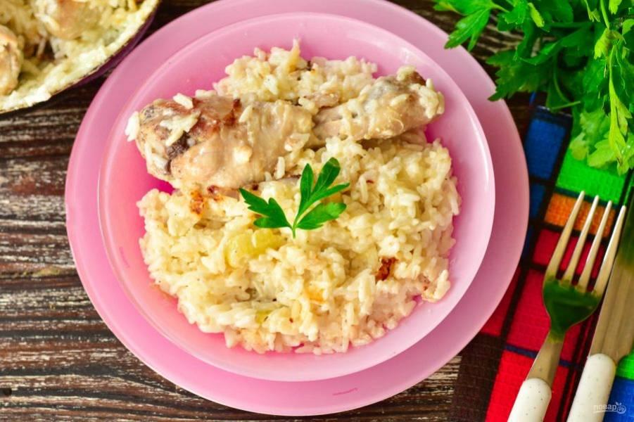 Вот такой рис с курицей получился! Приятного аппетита!