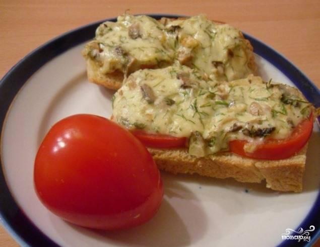 Бутерброды с шампиньонами