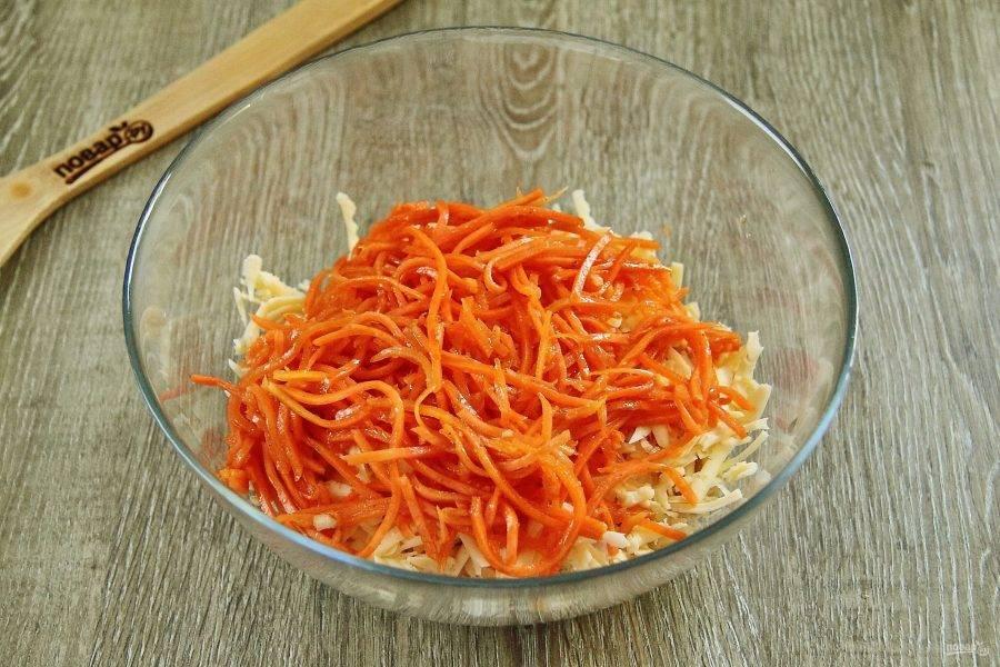Добавьте корейскую морковку.