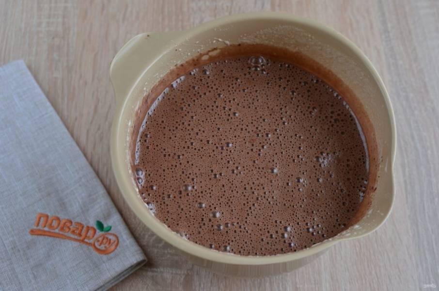 5. Готово. Вот такое шоколадное тесто.