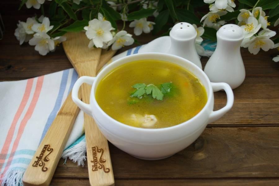 Подайте суп к столу. Готово.