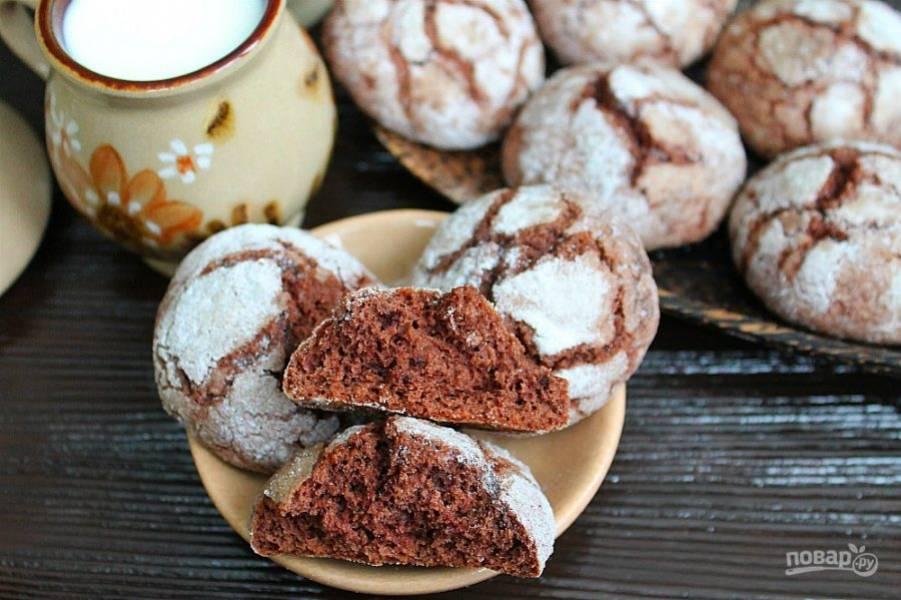 Мраморное печенье готово, угощайтесь!