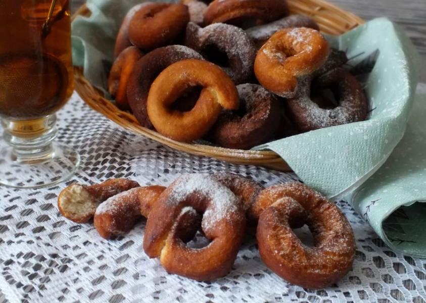 Перед подачей, по желанию, выпечку можно присыпать сахарной пудрой. Приятного аппетита!