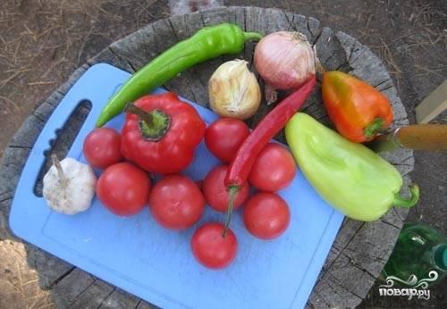 Готовим остальные овощи.