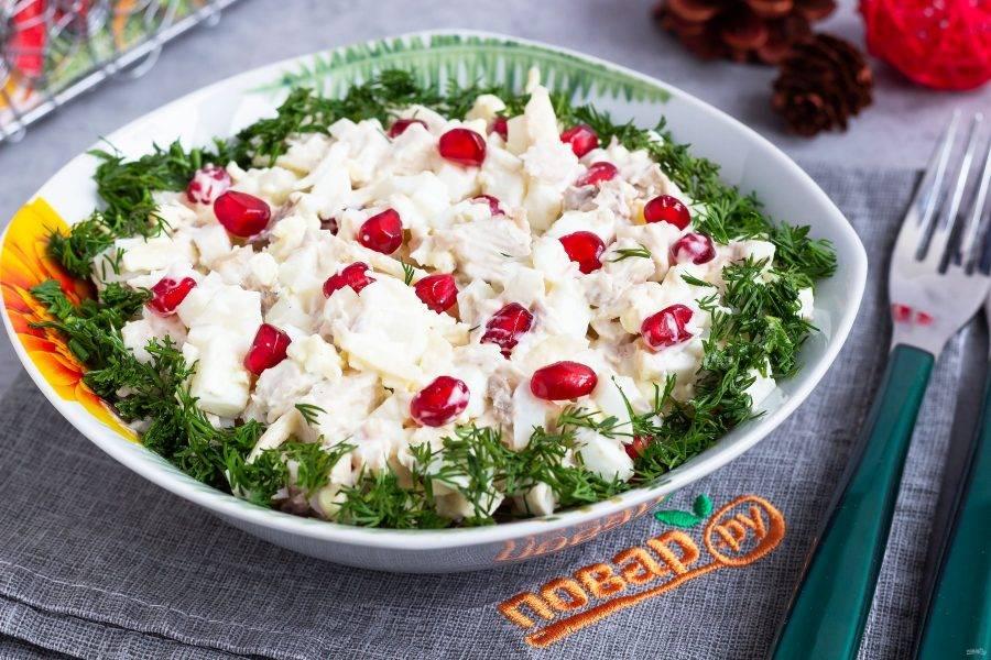 Украсьте свежей зеленью и подавайте к столу! Приятного аппетита!