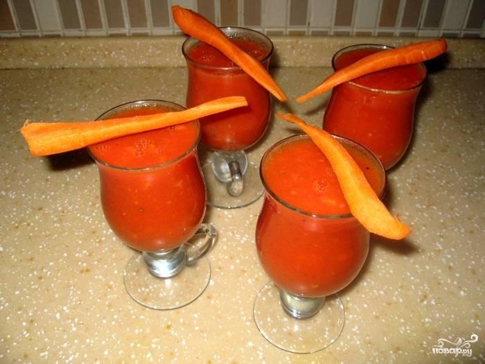 Овощные коктейли в блендере