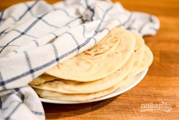 Лепешки на сухой сковородке