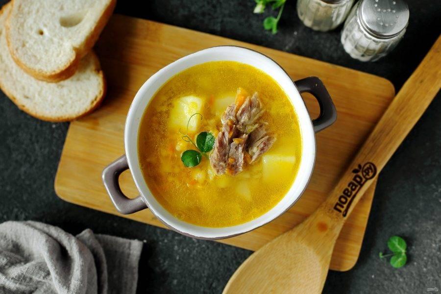 Гороховый суп с карри готов. Приятного аппетита!