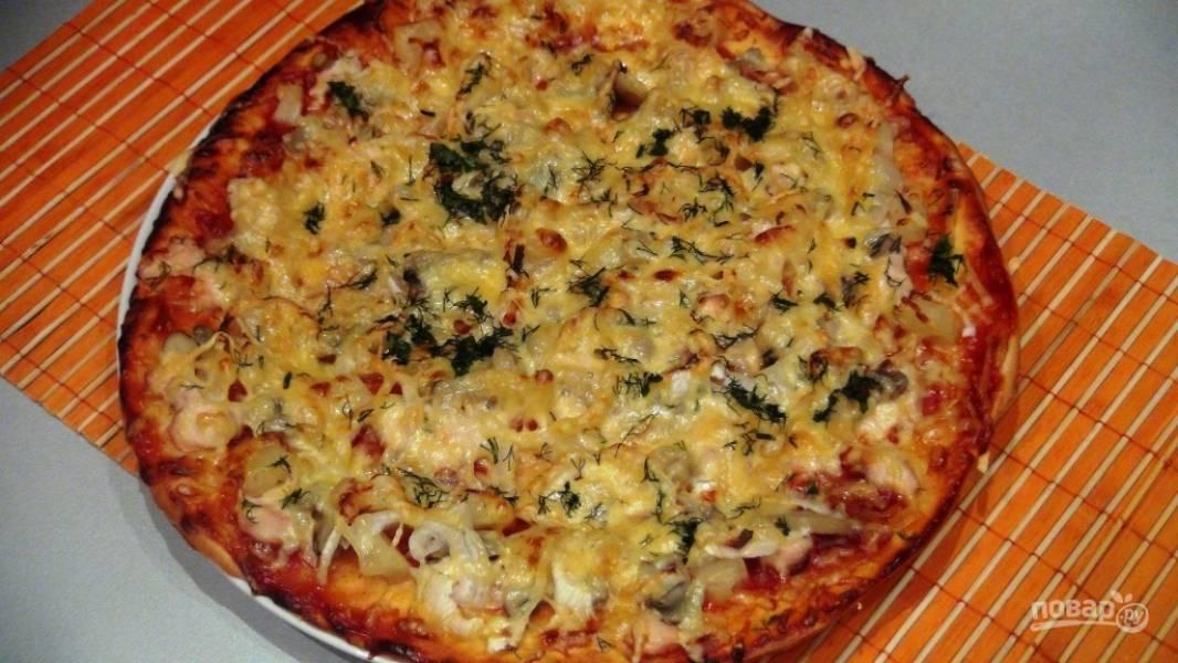 Пицца по-домашнему в духовке