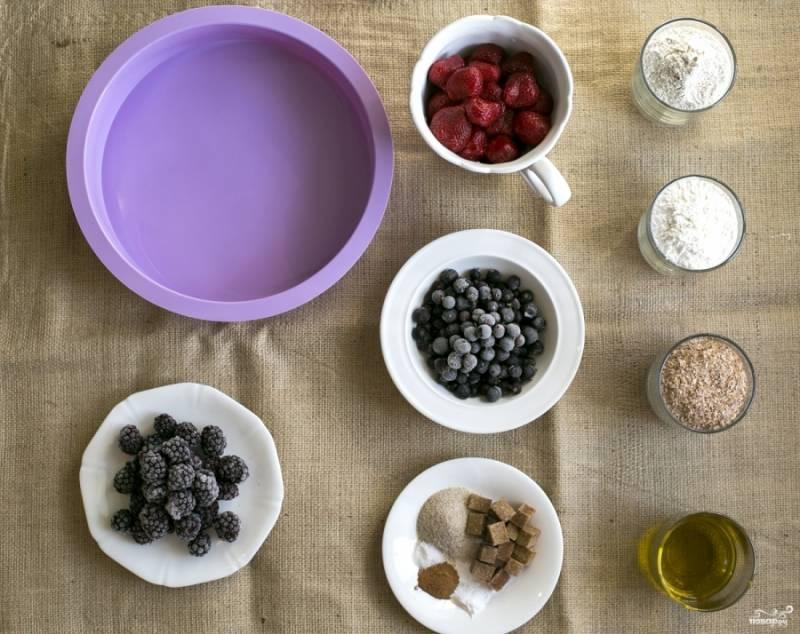 Подготовьте все необходимые ингредиенты. Ягоды лучше разморозить.
