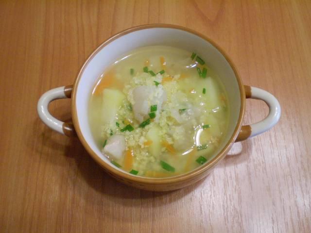 10. Суп на рыбном бульоне готов! Приятного!