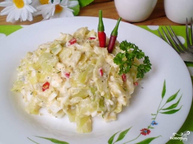 Салат из фасоли остренький