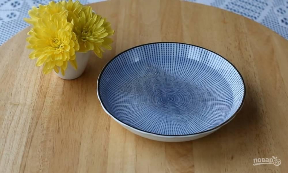 4.Залейте желатин холодной водой и оставьте набухать.