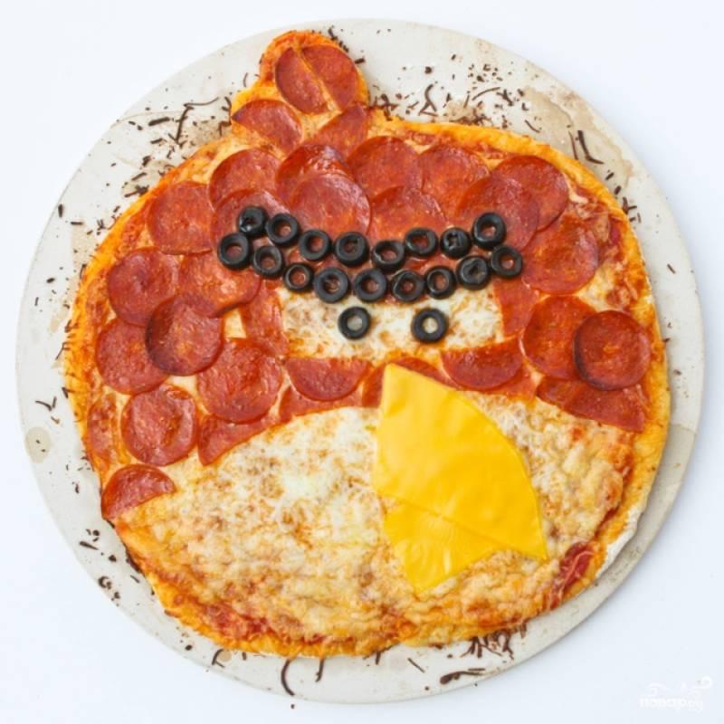 "8. Пицца ""Angry Birds"" готова! Приятного аппетита!"
