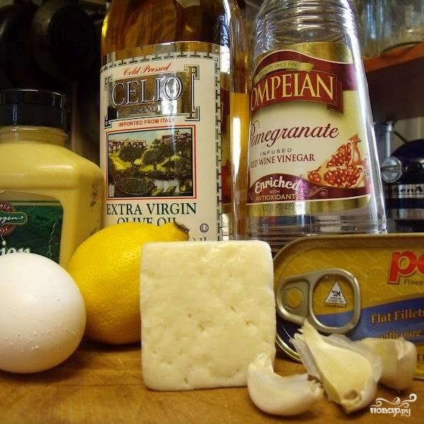 Для наглядности показываю необходимые для приготовления соуса ингредиенты.