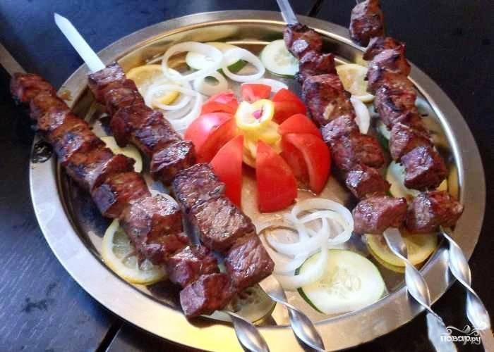 Шашлык из телятины по-азербайджански